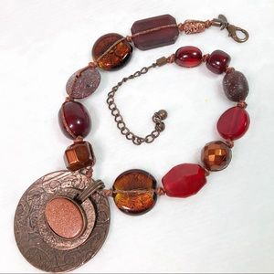 Chico's Chunky Statement Necklace Druzy Style